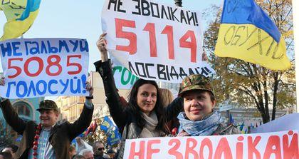 Corruption demostration in Ukraine. / TI