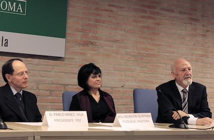 Pablo Martínez, Asun Quintana and Calviño. / M.A.