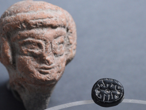 The seal was found during the excavations of Givati, the City of David. /AII,Givati, seal, jerusalem, israel, judah