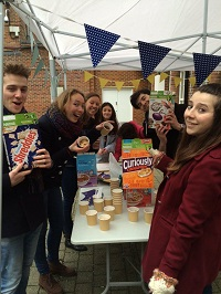 Cereal breakfast offered by Kingston students.