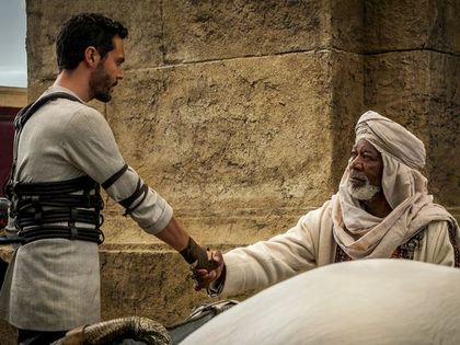 Ben Hur and his trainer Ilderim / Paramount
