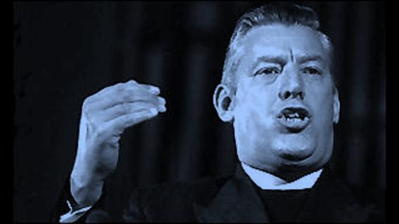 Ian Paisley, preaching. ,ian paisley