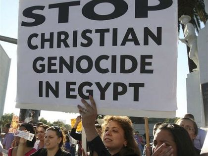 A demostration against Christian persecution in Egypt. / AP