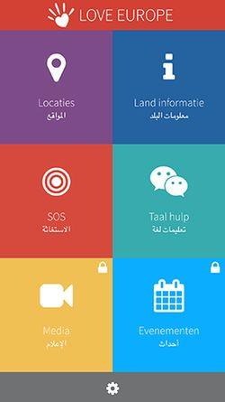 Love-Europe app menu. / love-europe.org