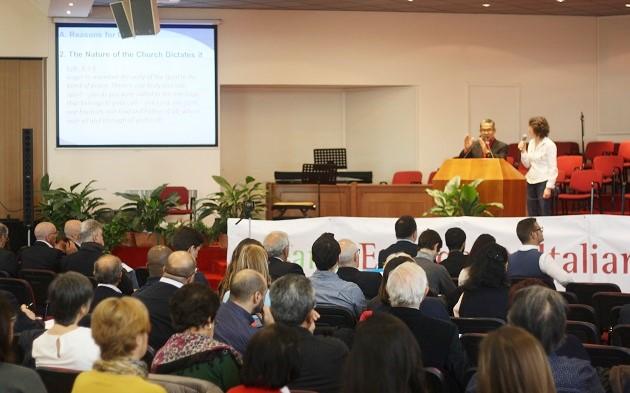 Efraim Tendero, Secretary General of the World Evangelical Alliance, during one of the session in Rome. / J. Forster,efraim tendero, italy, wea