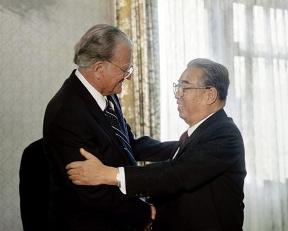 Billy Graham visited Kim Kim Il Sung in 1992.