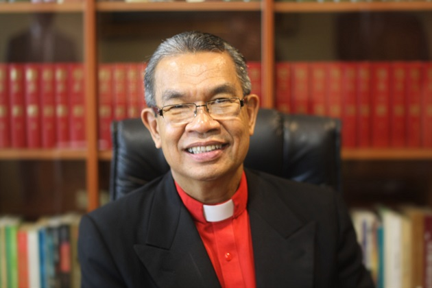 Bishop Efraim Tendero, in Rome, during the interview with Evangelical Focus. / J. Forster,Efraim Tendero, rome, WEA, Italy