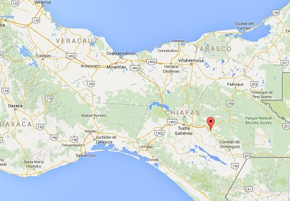 The region of Teopisca, in Chiapas (Mexico). / Google Maps