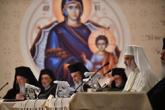 The Primates of the Local Orthodox Churches and their delegations participate in the opening session of the Holy and Great Council of the Orthodox Church at the Orthodox Academy of Crete. / ROMANIAN ORTHODOX CHURCH/ROBERT NICOLAE.,