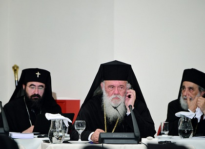 Archbishop Ieronymos of Athens and all Greece participates in the opening session of the Holy and Great Council of the Orthodox Church at the Orthodox Academy of Crete. / GOA/DIMITRIOS PANAGOS