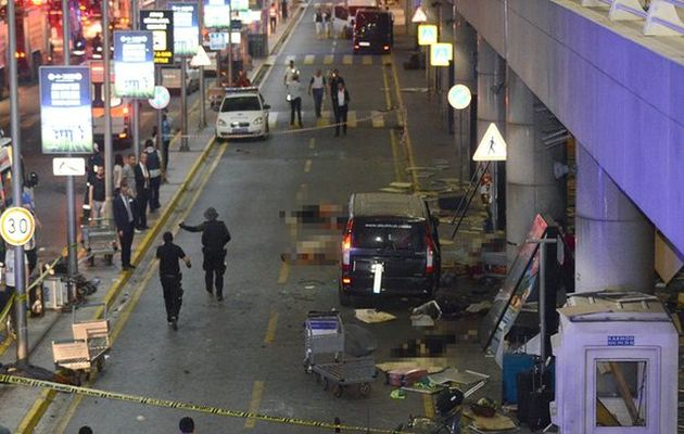 Istanbul's Ataturk airport after the attack,