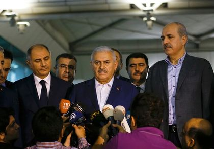 Prime Minister,  Binali Yildirim held a press conference at the airport