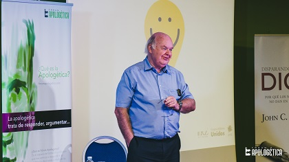 John Lennox visited Spain to speak at the 2016 Apologetics Forum. / Juan Pablo Serrano