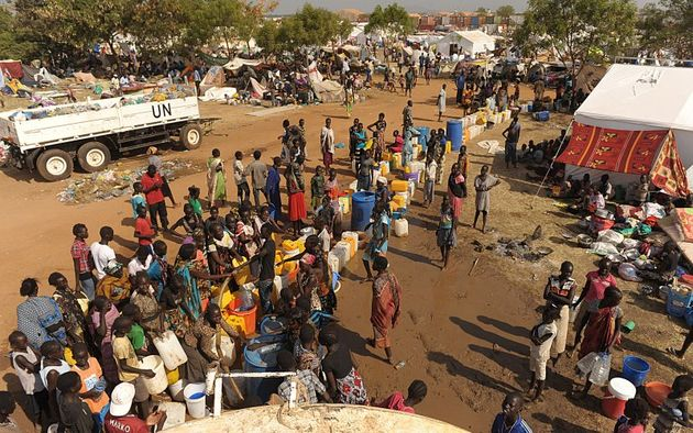 1,000 internally displaced people had fled its protection as violence hit areas near their camps./ Reuters,