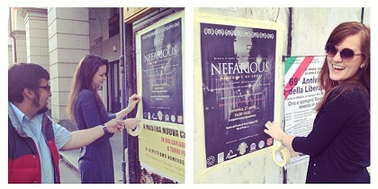 Advertising the showing of the film Nefarious: Merchant of souls. / ATR Instagram