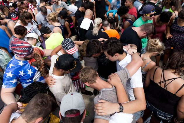 """Thousands of youth gathered at the National Mall in Washington, D.C. on Saturday for the  """"Together 2016"""" / Facebook Together 2016,"""