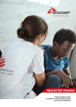 Neglected Trauma, the MSF report. / MSF