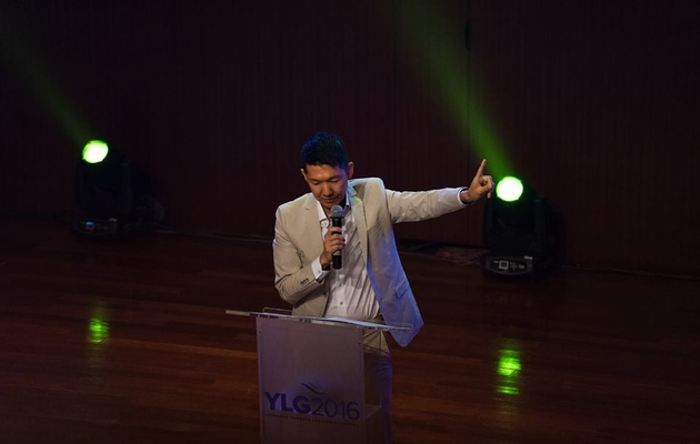 Michael Oh, CEO of the Lausanne Movement, speaking in Jakarta during the YLG 2016 conference. / Lausanne Movement,