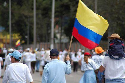 Peace demonstration in Bogota