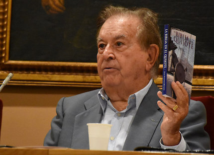 Juan Antonio Monroy explained the relationship of Don Quixote with the Bible. / Héctor Rivas