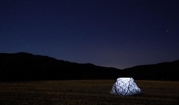 Photo: Hector Argüello (Unsplash, CC),tent, night, stars