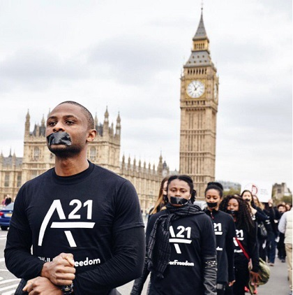 Walking for Freedom in London (UK). / A 21 UK