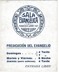 An invitation to an evangelical church, 1932. / AGDE