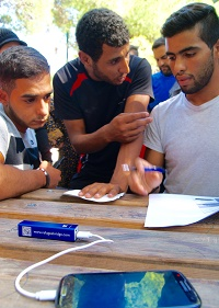 Syrian refugees at a refugee camp in Athens. / TWR