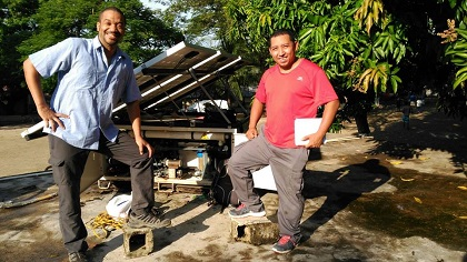 Solar water treatment plant used by the team in Haiti. / GAiN España
