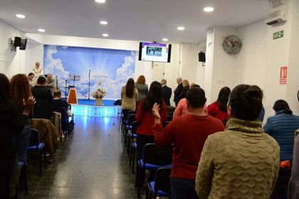 Christians gathered in Spain to pray forthose who suffer persecution.