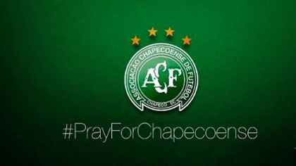 Social media users used the hashtag #prayforchapecoense.