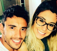 Alan Ruschel and wife Amanda. / Instagram