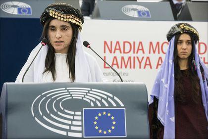 Lamiya Aji Bashar duting her speech. / EP