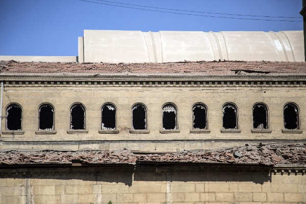 One of the buildings after the Cairo attack. / Agencies,