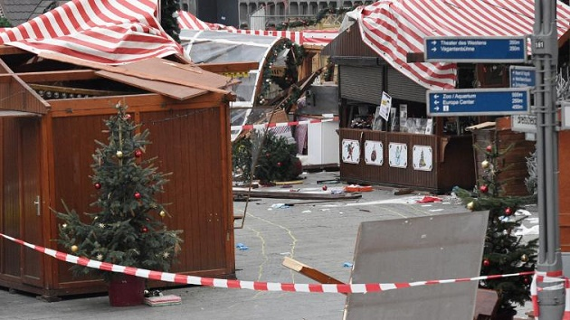 The Christmas market in Berlin, closed after the attack. / Agencies,