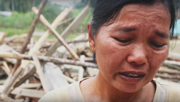 A Christian woman in India expresses her grief after the church building of her community was destroyed by radicals. / Open Doors,