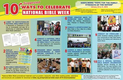 Suggetions for the Bible week. / PBS