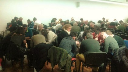 One of the united church meetings, near Barcelona. / AEE