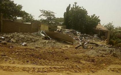 Bulldozers reduced to rubble the Redeem Christian Church of God and the Lord Chosen Church.  / WWM