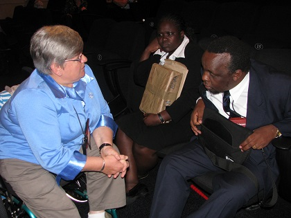 At the Lausanne Movement Cape Town 2010 congress, with representatives of the African Mission to Blind people.