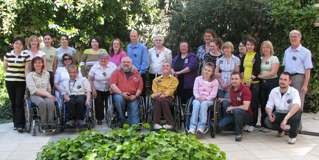 Participants of an European Disability Network meeting in Budapest. ,European Disability Network