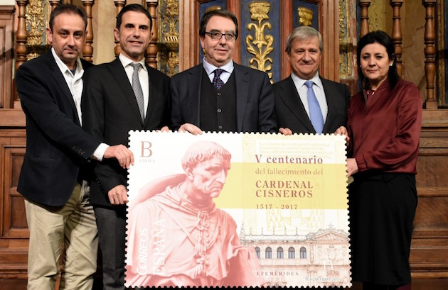 Official presentation of the stamp dedicated to the Cardinal Cisneros. / Correos,