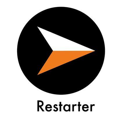Restarter logo.