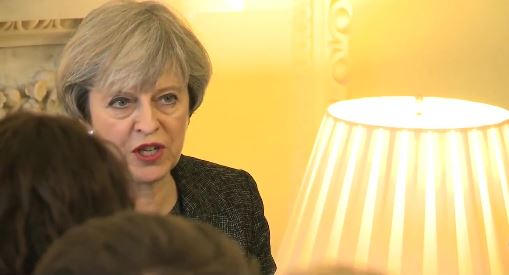 Theres May, speaking to Christian leaders in the UK. / Gov.uk,