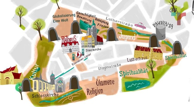 A map of the world exposition in Wittenberg. / R2017,