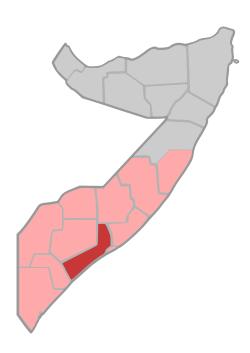 The Lower Shebelle Region of Somalia.  / Wikipedia,