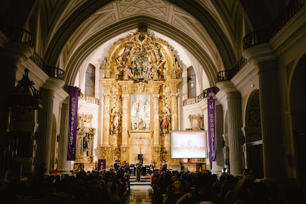 Many attended the concert in the Church of the Saviour, in Valladolid. / J. P. Serrano