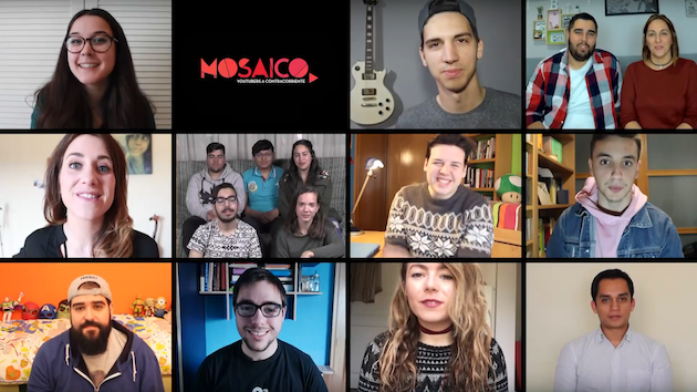 An image of the first video of the Mosaico community. / YouTube,mosaico, youtubers