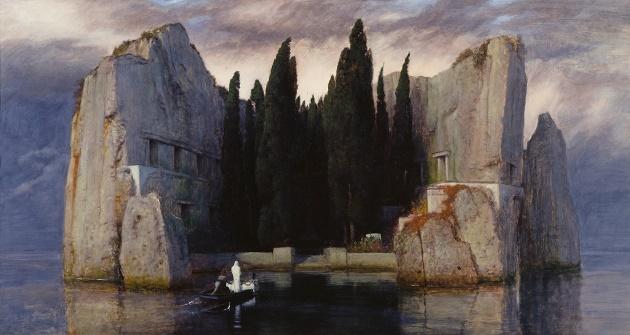 Arnold Böcklin, Die Toteninsel III (Alte Nationalgalerie, Berlin). The Isle of the Death. / Wikimedia (CC),