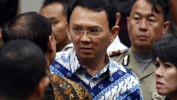 Ahok, the outgoing Governor of Jakarta, during the hearing on 9 May. / Financial Review,ahok, christian, jakarta